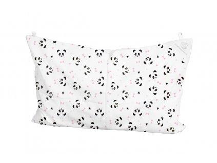 panda růžová polštař 60x40