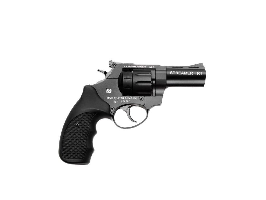 """Zoraki Streamer 3"""" cal. 6mm ME Flobert Revolver - black"""