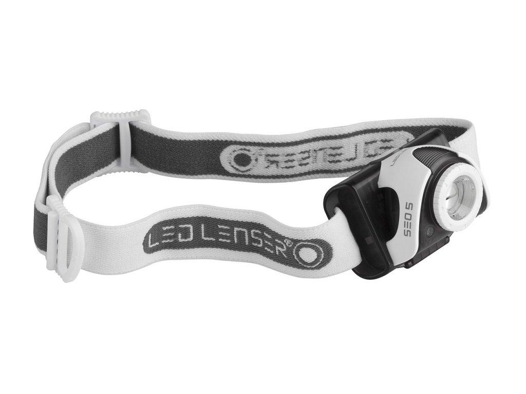 Led Lenser SEO5 Headlamp grey/red