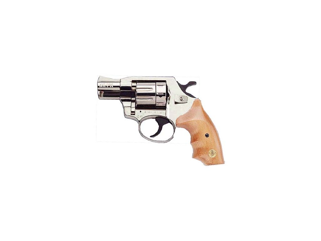 Alfa 620 cal. 6mm ME Flobert Revolver - nickel/wooden