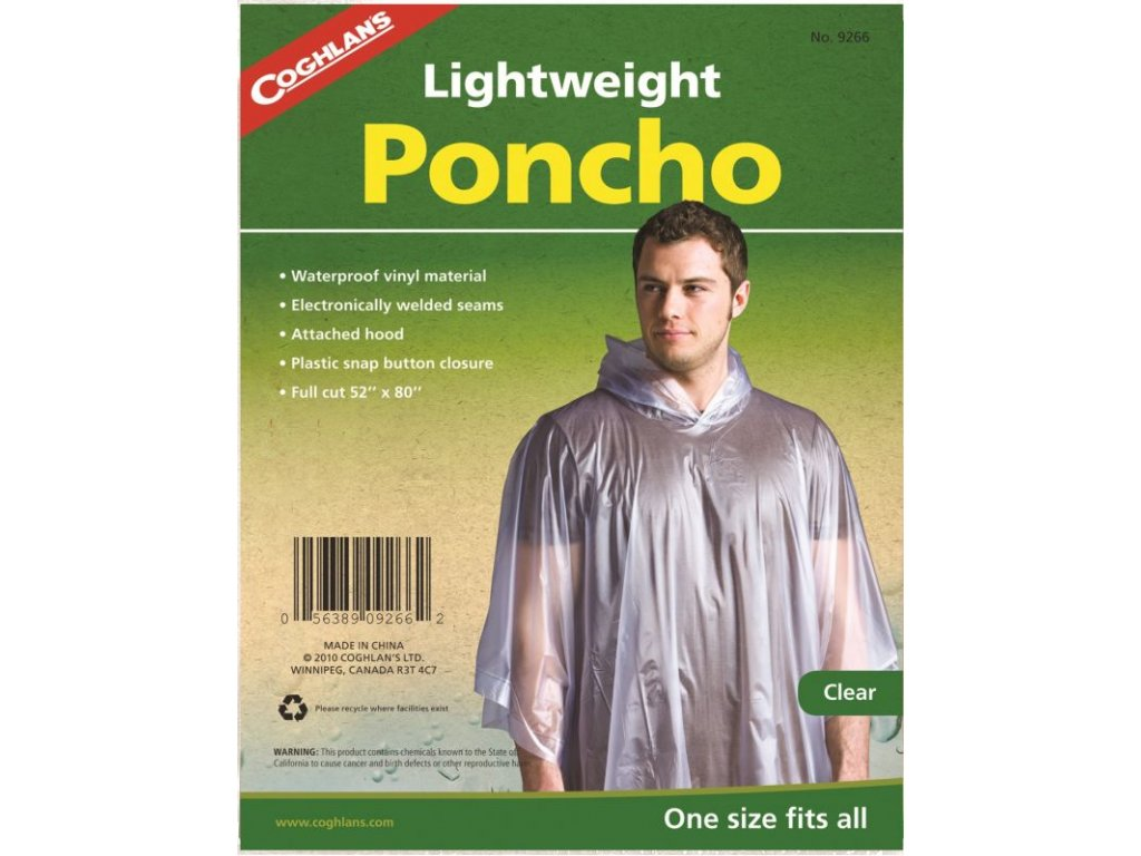 Coghlan's Lightweight Poncho Clear