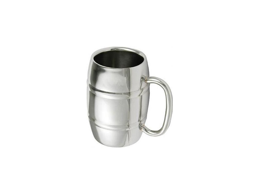 Stainless steel Tankard with double wall 0,42l SH-350024