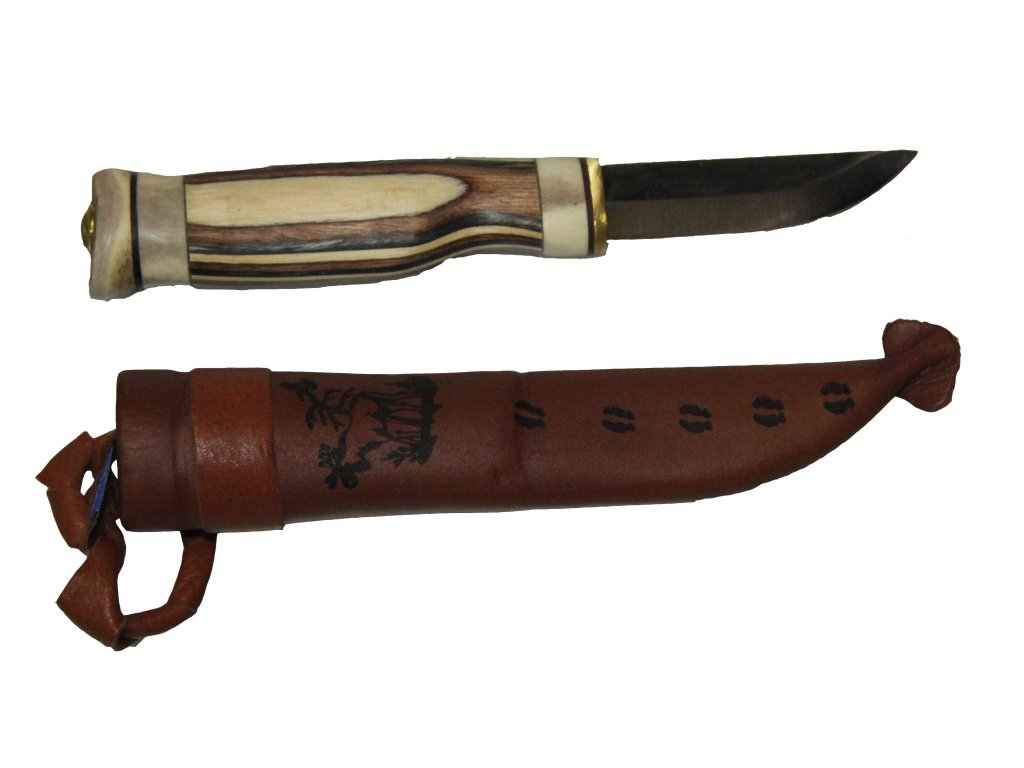Wood Jewel 23Z Zebra Finnish Knife
