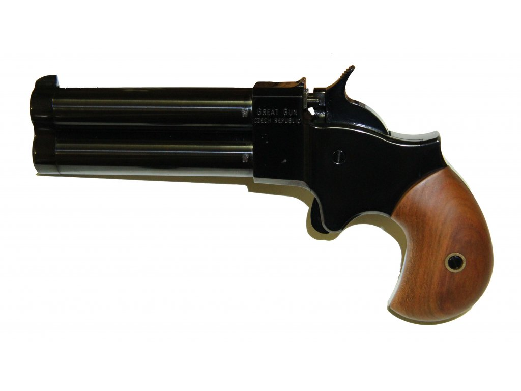 Double-barrel percussion pistol Great Gun Derringer .45 4""