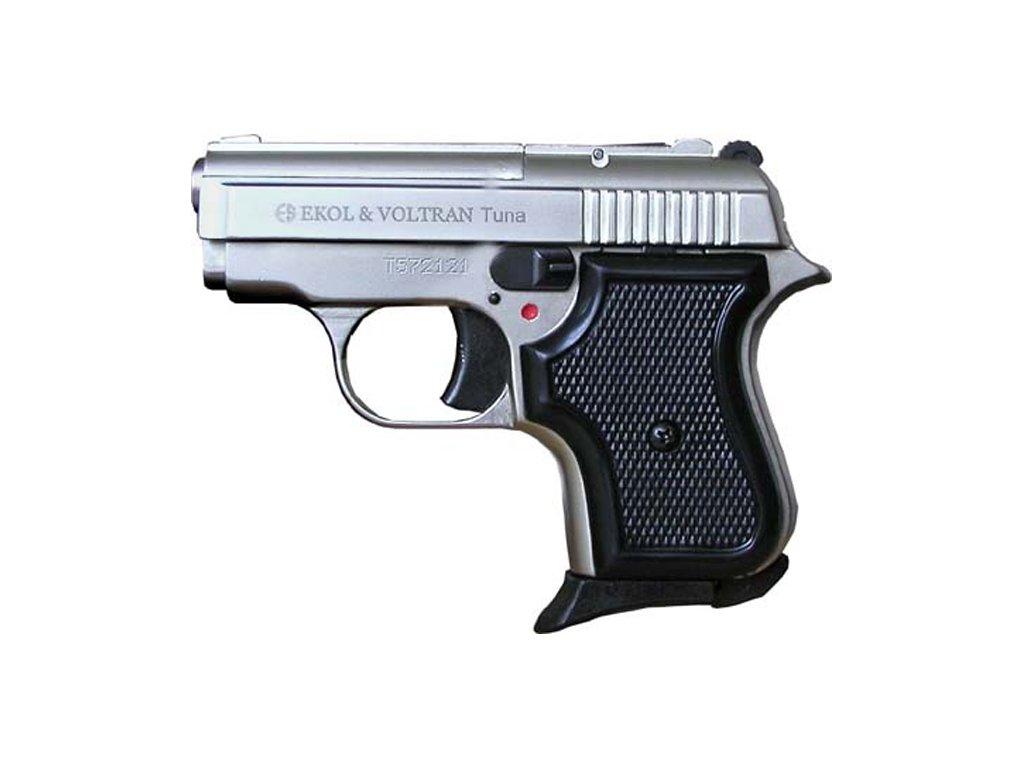 Gas Pistol Ekol Tuna Nickel cal. 8mm