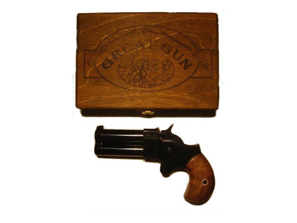 Double-barrel percussion pistol Great Gun Derringer  45 2,5'' black
