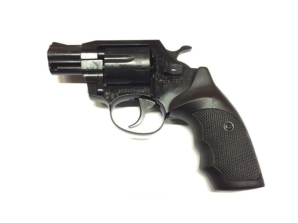"Gas Revolver ALFA 2"" black, plastic grip cal. 9mm"