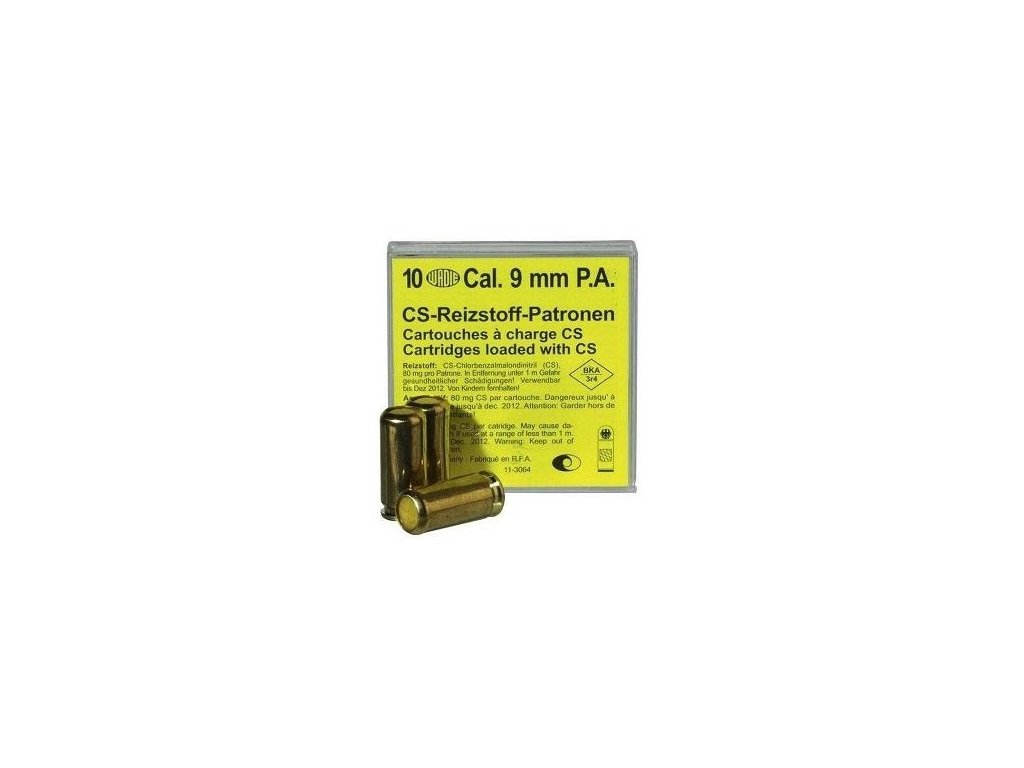 Wadie CS cal. 9mm P.A. Gas Cartridges 10 pcs