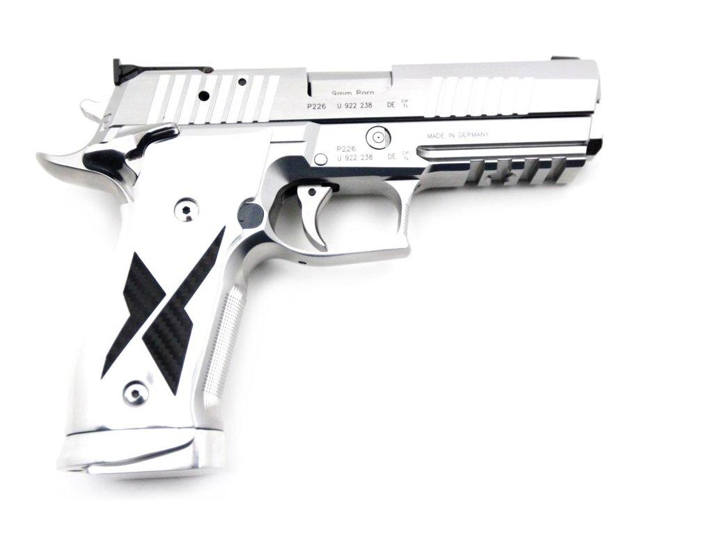 Sig Sauer X-Five Chrome & Carbon cal  9mm
