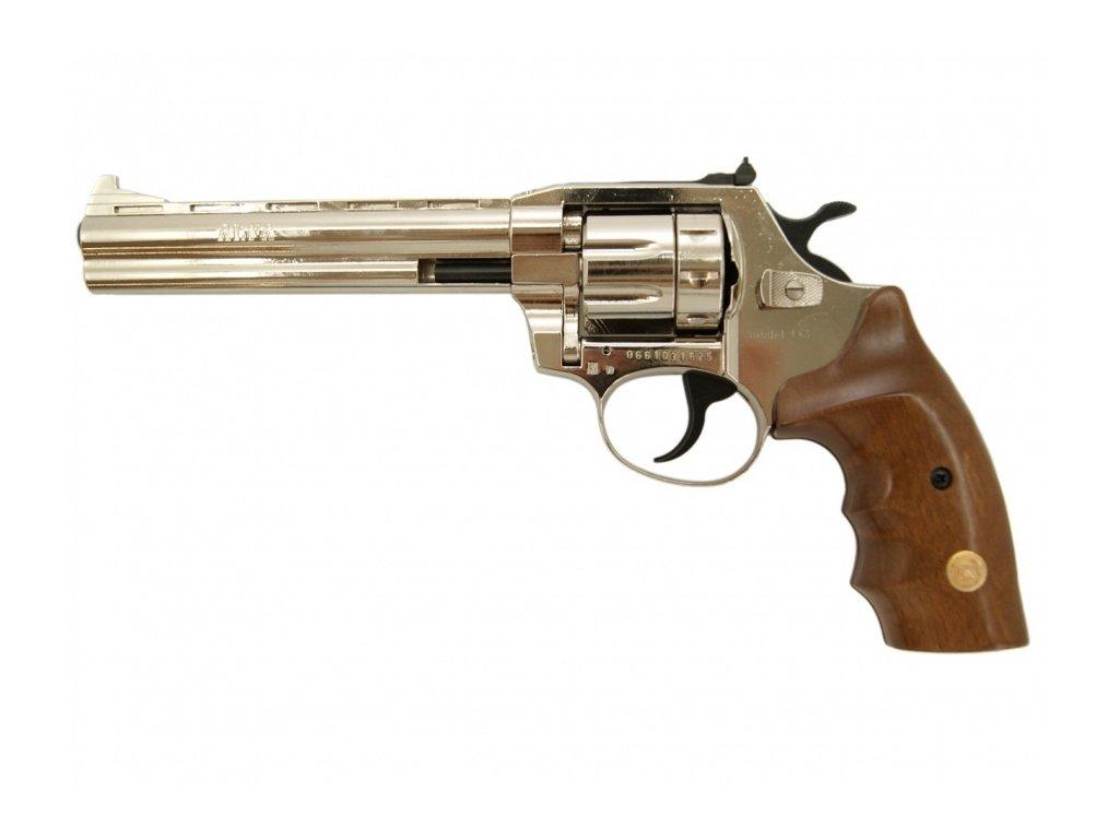 Alfa 661 cal. 6mm ME Flobert Revolver - nickel/wooden