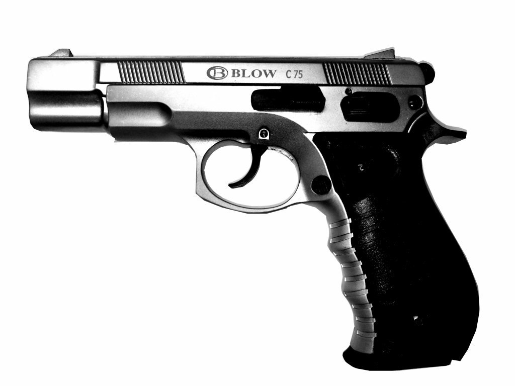 Gas Pistol Blow CZ75 titanium cal. 9mm