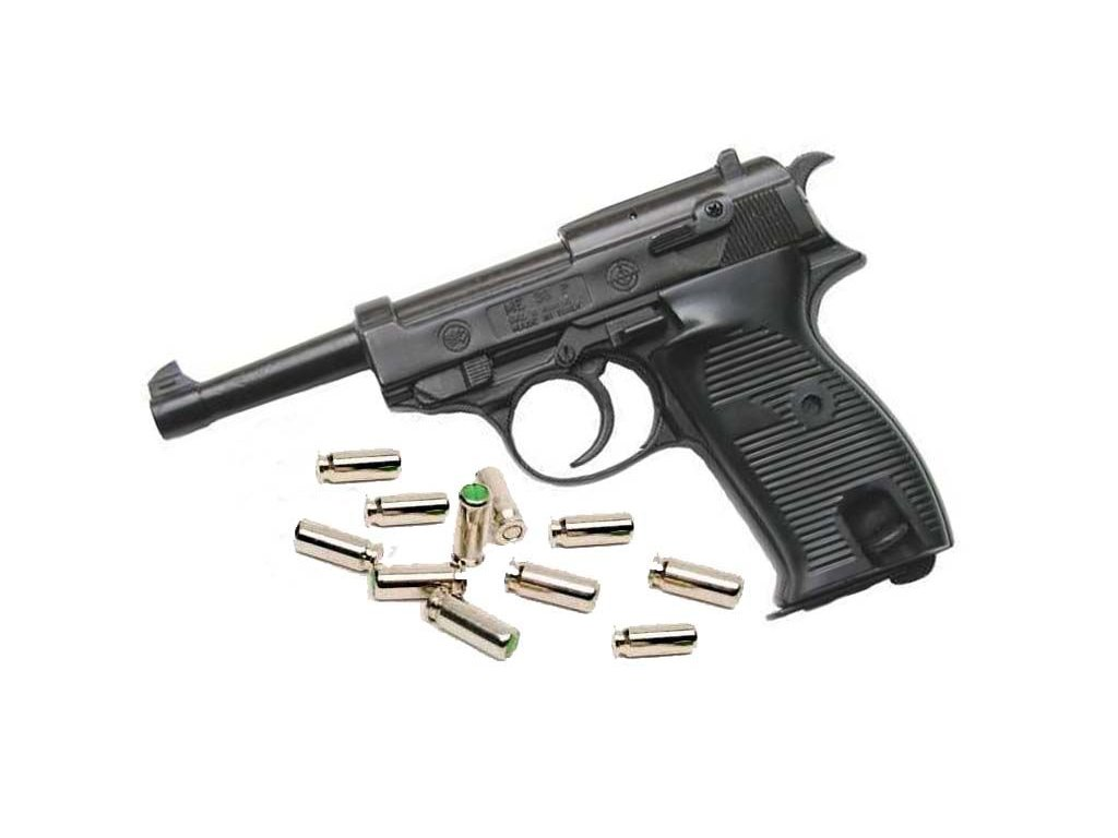 Gas Pistol Bruni P38 Black cal. 8mm
