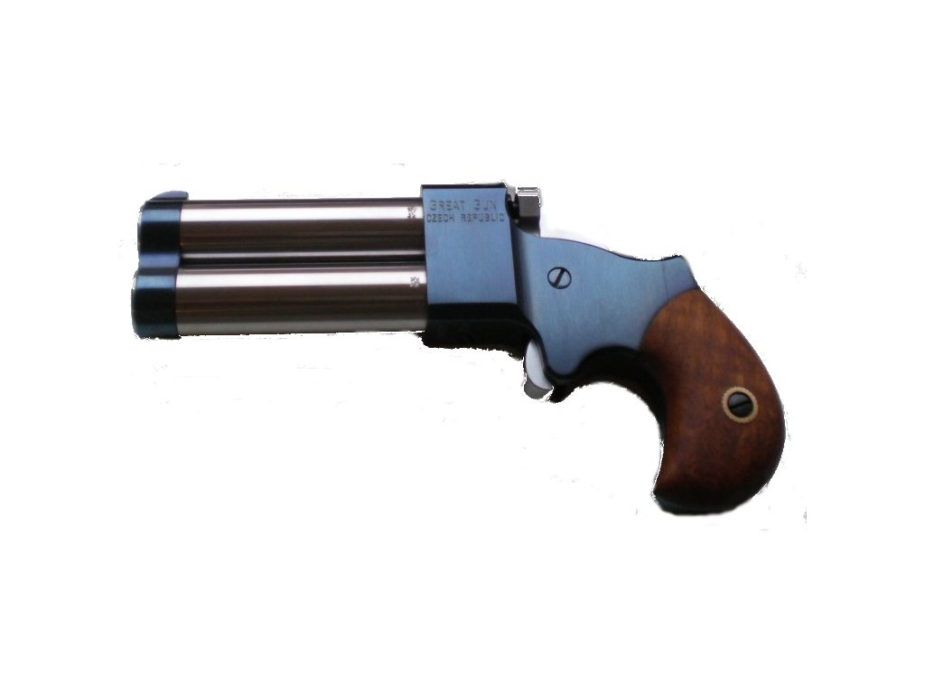 "Double-barrel percussion pistol Great Gun Derringer .45 2,5"""