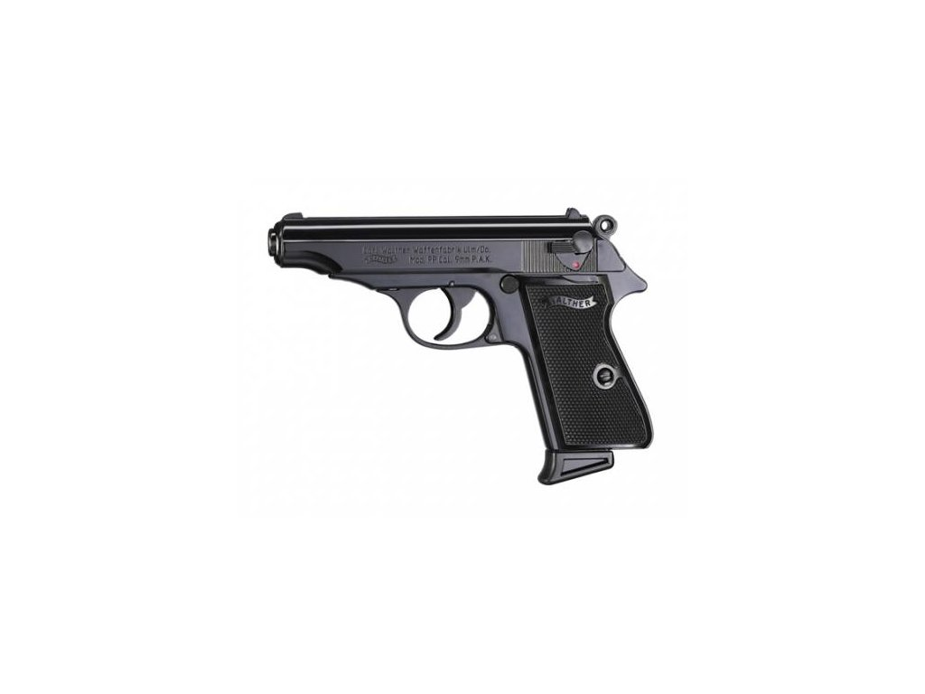 Gas Pistol Walther PP Black cal. 9mm