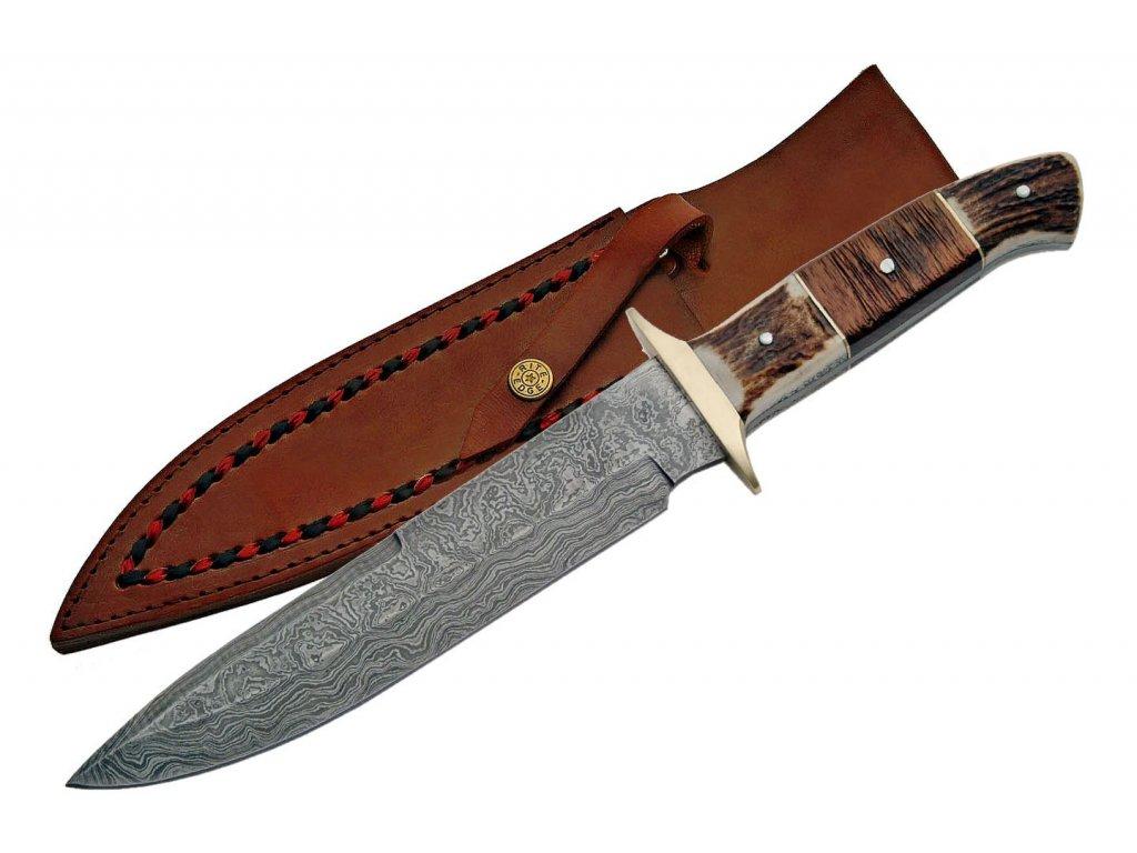 """Damascus DM1044 Plainsman Bowie 13"""" Knife"""