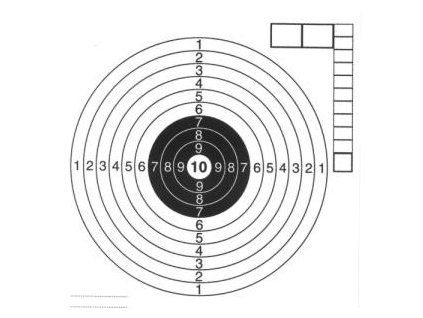 Air Gun Target 14x14 cm/50 pcs