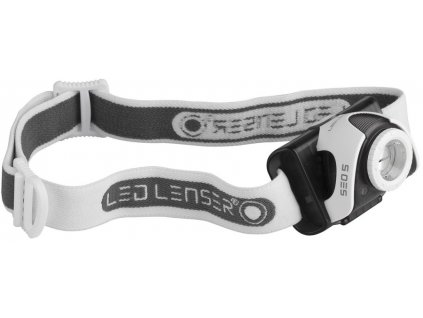 Led Lenser SEO5 Headlamp grey/red
