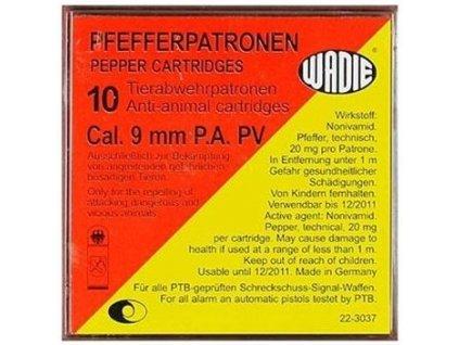 Wadie cal. 9mm P.A. PV Pepper Cartridges 10 pcs