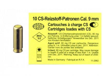 Plynové náboje CS Wadie do pistole cal.9mm 10ks