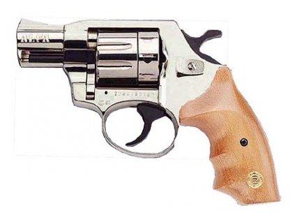 Alfa 620 cal. 6mm ME Flobert Revolver - nickel/wooden