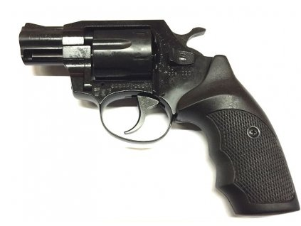 "Gas Revolver ALFA 2"" black, plastic grip cal. 9mm"