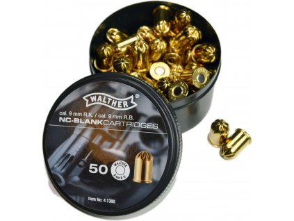 Walther NC Blank cal. 9mm R.K. Cartridges 50 pcs