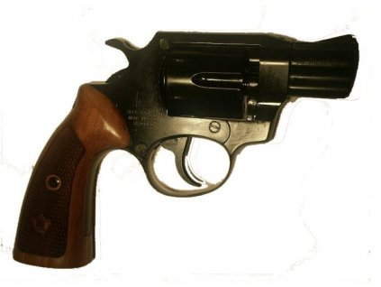 "Gas Revolver ALFA 2"" black, wood grip cal. 9mm"