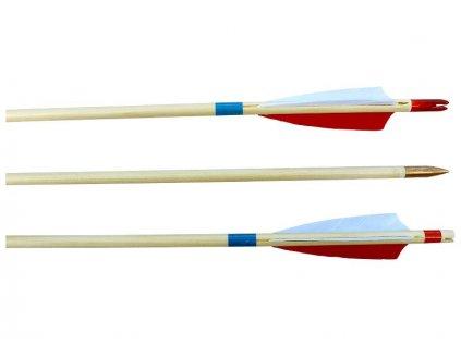 Lazecky 8,7/760 mm Wooden Arrow, Feathers