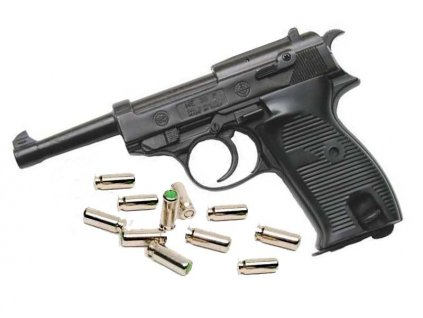 Gas Pistol Bruni P38 Black cal. 8mm