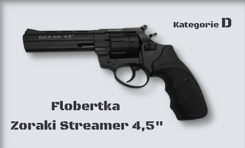 "Flobertka Zoraki Streamer 4,5"" černá cal. 6mm ME Flobert"