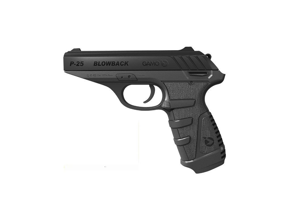 1896 vzduchova pistole gamo p 25 blowback cal 4 5mm