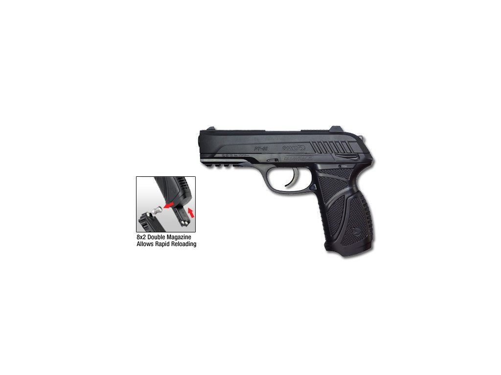 2436 vzduchova pistole gamo pt 85 blowback cal 4 5mm