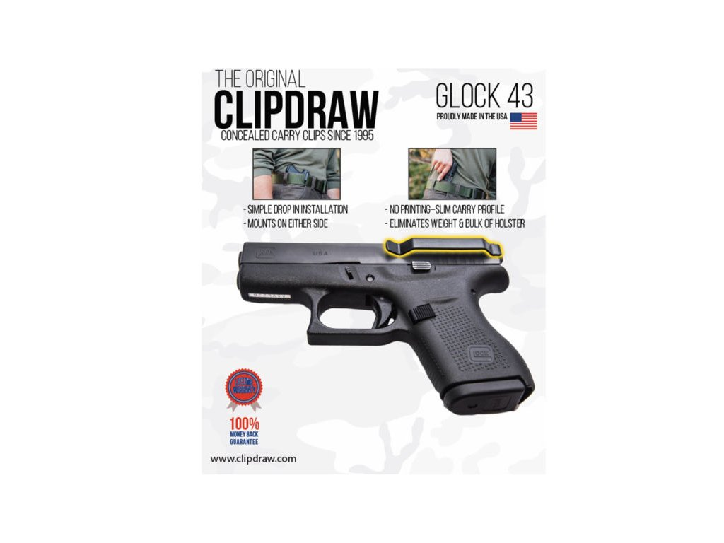 64697 klip pro skryte noseni clipdraw glock 43