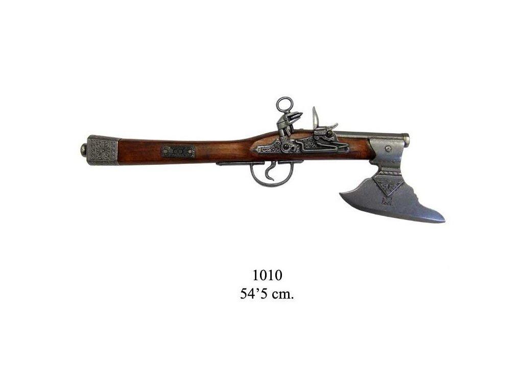 nemecka pistole 17 stoleti se sekerou