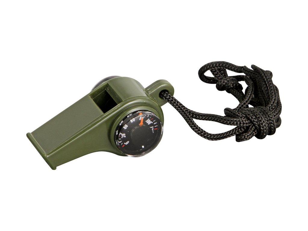 71057 1 bezpecnostni pistalka s kompasem a venkovnim teplomerem