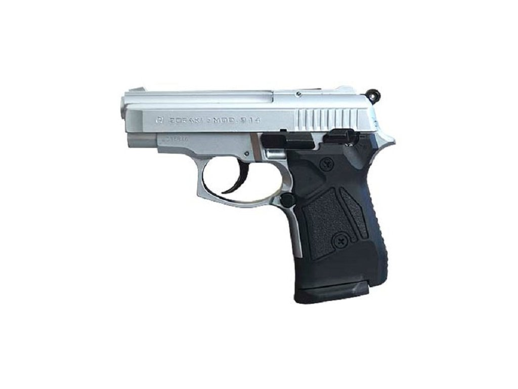 71219 plynova pistole atak zoraki 914 matny chrom cal 9mm