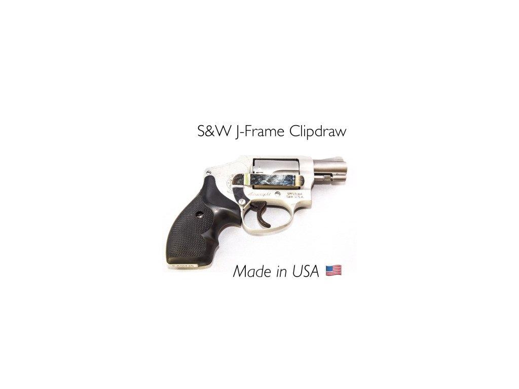 7185 1 klip na revolvery smith wesson clipdraw stribrny