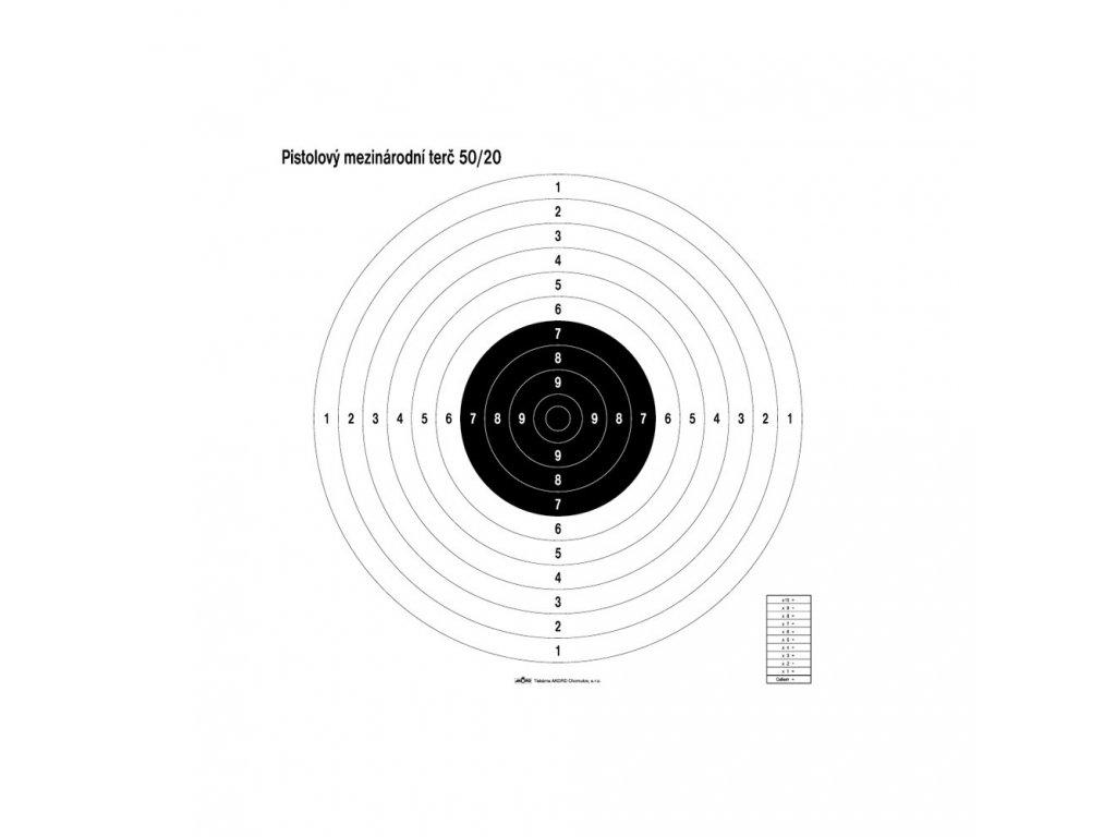 pistolovy mezinárodní terc 50:20