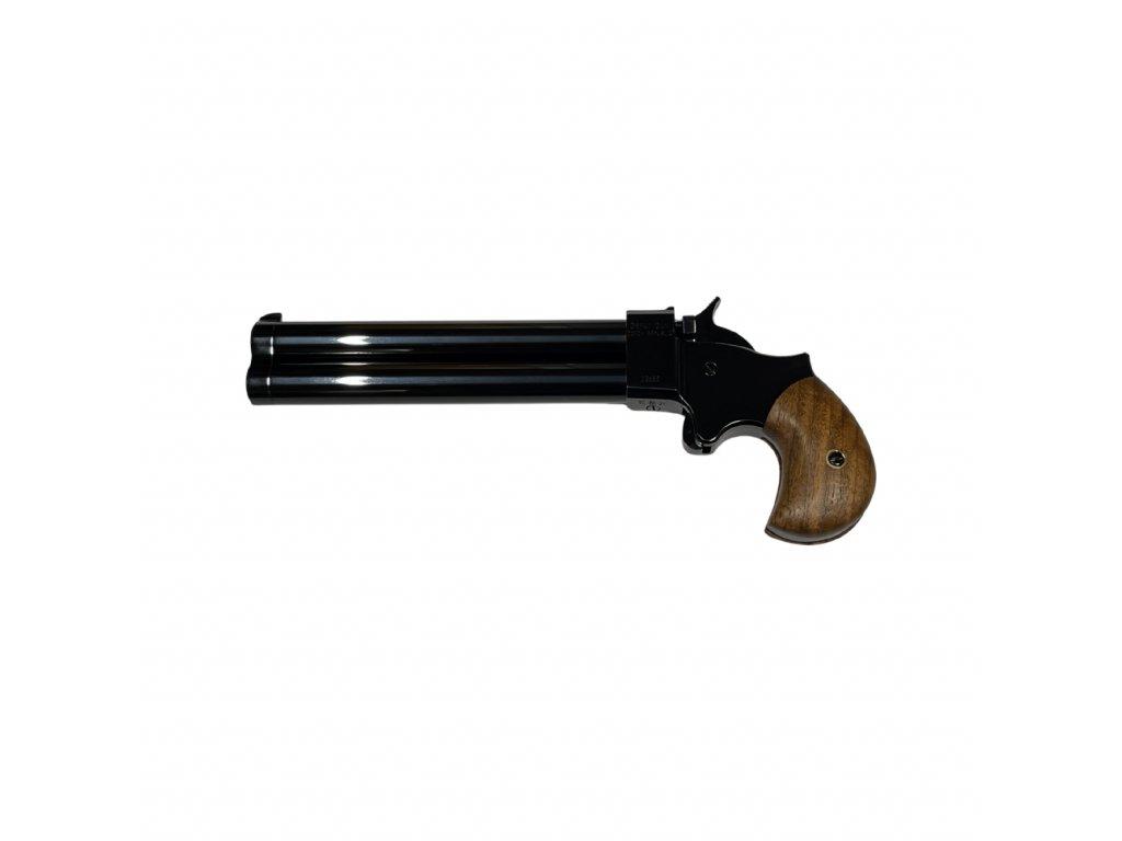 """Perkusní dvouhlavňová pistole Great Gun Derringer .45 6"""" černěný"""