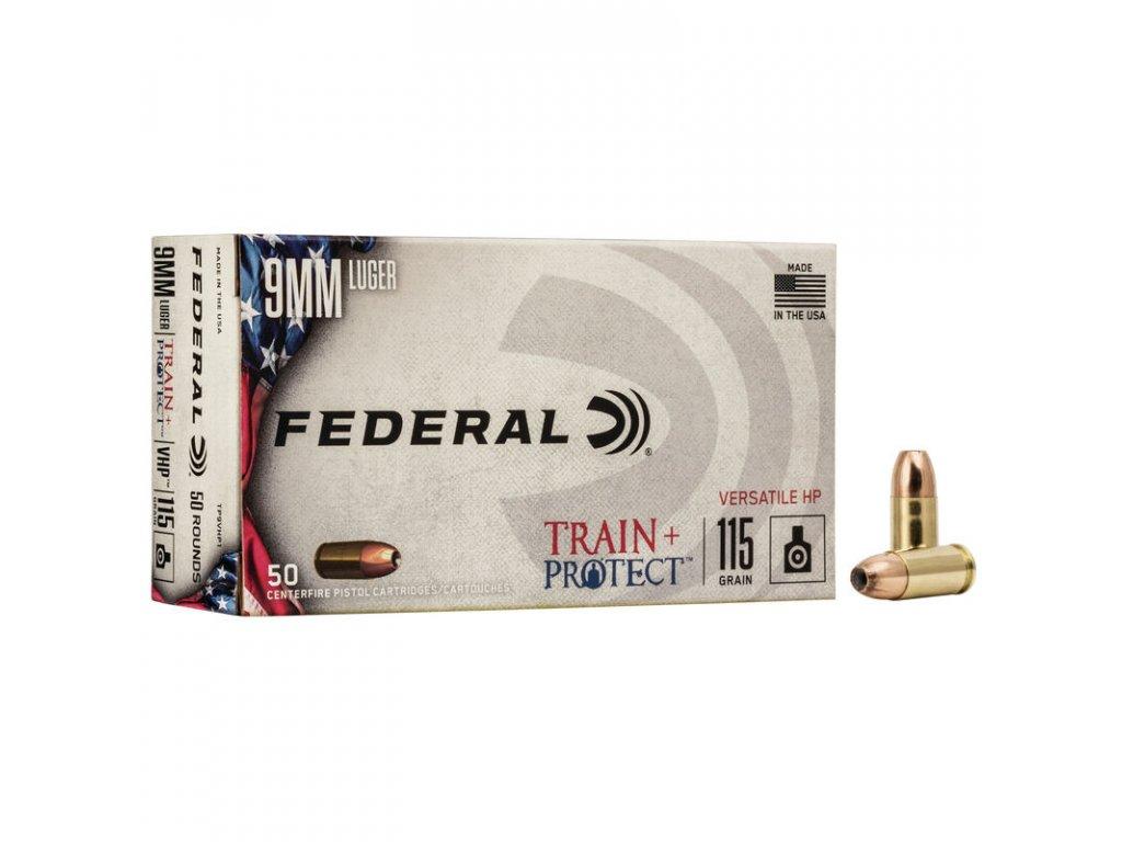 naboj kulovy federal train protect 9mm luger 115gr vhp