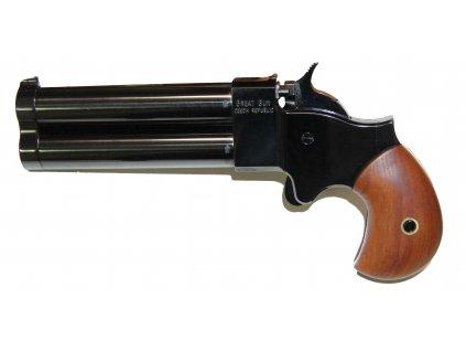 5469 perkusni dvouhlavnova pistole great gun derringer 45 3 5
