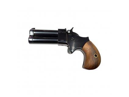 Perkusní dvouhlavňová pistole Great Gun Derringer .45 2,5'' černý