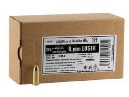 4180 1 sb 9mm para fmj 8g 124gr balene po 250ks sellier bellot 9480