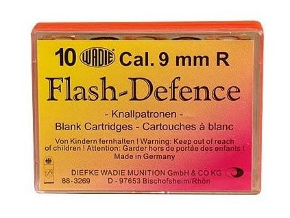 64361 obranne naboje wadie flash defence cal 9mm r 10 ks