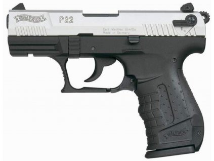 Plynová pistole Walther P22 nikl cal. 9mm