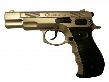 66452 plynova pistole blow cz75 saten cal 9mm