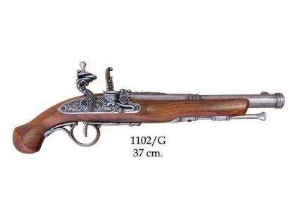 kresadlova pistole anglie 18 stoleti