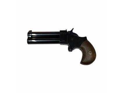 """Perkusní dvouhlavňová pistole Great Gun Derringer .45 3"""" černý"""