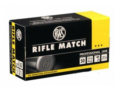 Náboj RWS Rifle Match 22LR 2.6g, _50ks