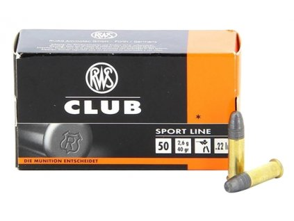 7515 naboj rws club cal 22 lr 2 6g 50ks
